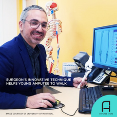 Dr. Panagiotis Glavas performs historic surgical procedure on young amputee.