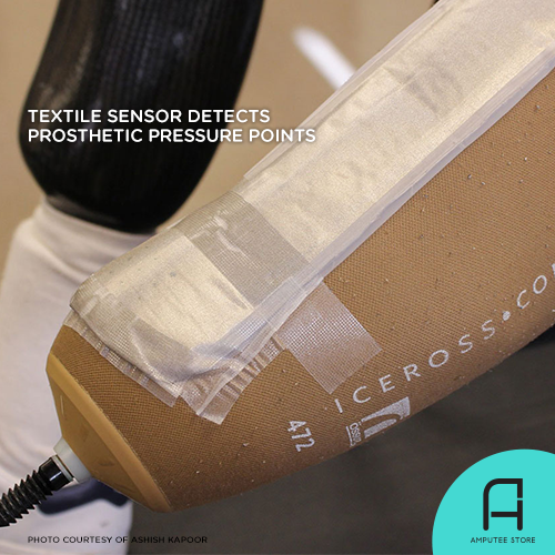 Researchers from North Carolina State University created a flexible sensor system that could map pressure points within the prosthetic socket.