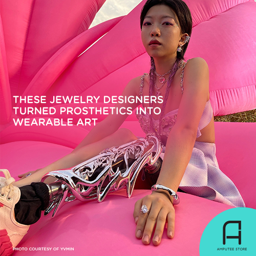 Chinese jewelry designers YVMIN turned prosthetics into wearable art.