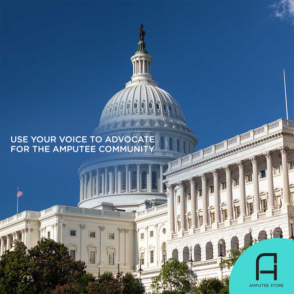 Use your voice to advocate for the needs of the amputee community.