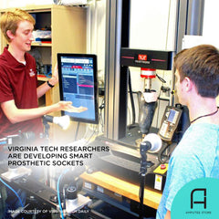 Virginia Tech researchers are developing smart prosthetic sockets for lower-limb prosthetic users.