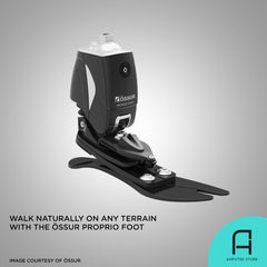Ossur Proprio Foot lets you walk naturally on any terrain.