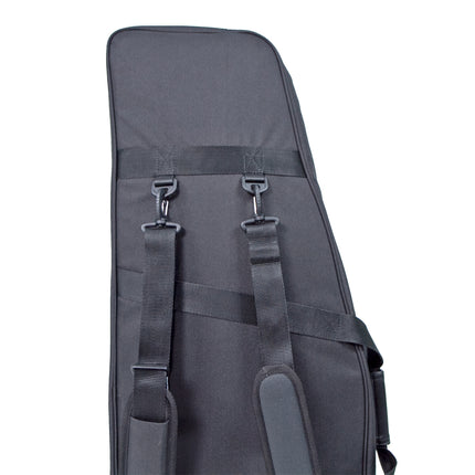 Durable and padded shoulder straps to carry your prosthetic leg.