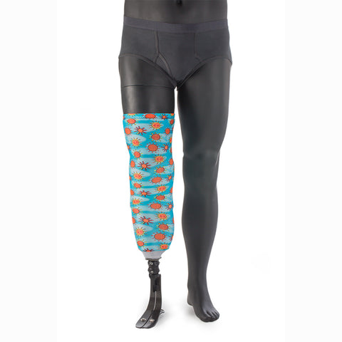 Personalize your prosthetic leg with a CME Sleeve Art cover.