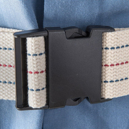 Easy snap gait belt closure for ambulation.