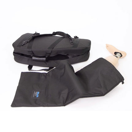 Internal padded drawstring bag for your prosthetic leg.