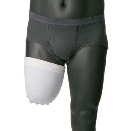 Knit-Rite 4-way prosthetic shrinker short length with silicone beads.
