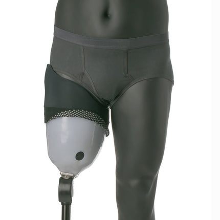 Reflect knit-rite AK brim sheath over above-knee socket to reduce skin pulling and skin irritation.