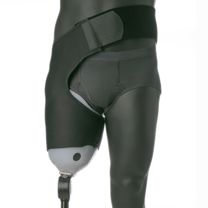 Knitrite coolflex is a neoprene belt and sleeve suspension for amputees.