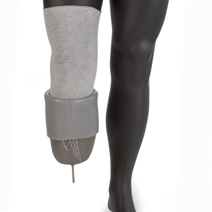 Place the Liner-Liner amputee sock over your stump and underneath your liner.  Simply roll your prosthetic liner over your limb without affecting prosthetic suspension.