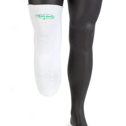 Knit rite soft sock coolmax prosthetic sock with soft interior for sensitive amputee skin, Regular Long, 3Ply..