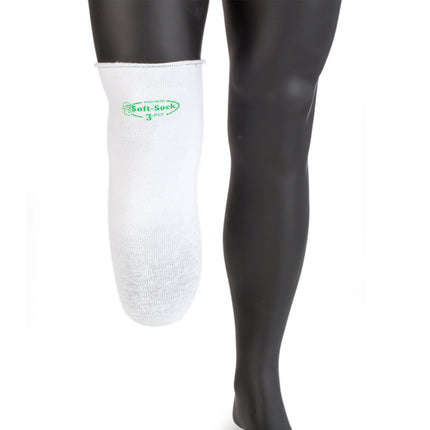 Knit-Rite Soft Sock Coolmax, size Regular long prosthetic sock with hole-in-toe for prosthetic locking liners.