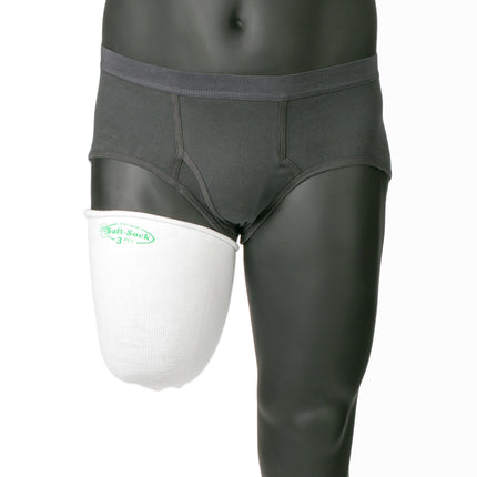 Above knee prosthetic socks by knit-rite with coolmax to control volume and keep your socket tight.