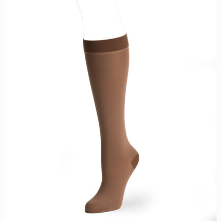 Improve the look of your prosthetic leg with knit-rite cosmetic hosiery in brown skin tone.