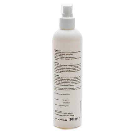 Ottobock derma clean is safe to use to clean prosthetic liners and supplies.