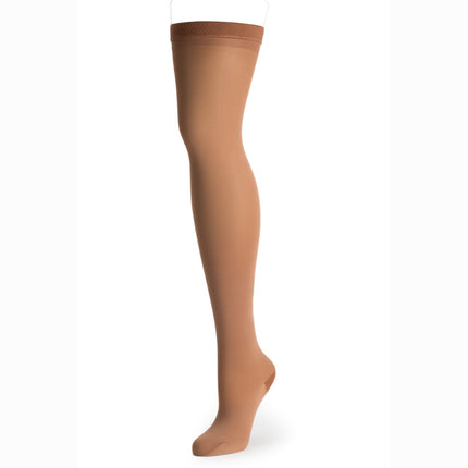 Knit-Rite Prosthetic hosiery Latin skin tone shade to cover your prosthetic above knee leg..