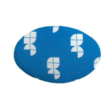 Oval adjustment gel pad for back of knee or under your ischium.