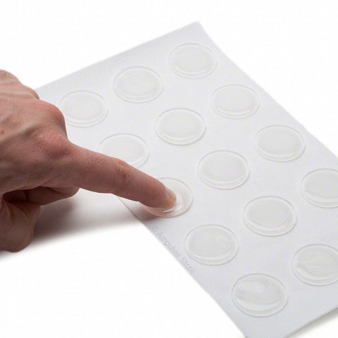 Silipos pressure sensitive gel dots for relief.