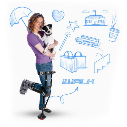 The iWalk allows you to continue walking, working with ease and hands free.
