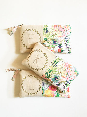 Floral Bridesmaid Clutch Set