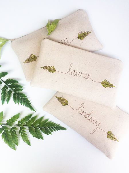 Personalized Woodland Wedding Clutch