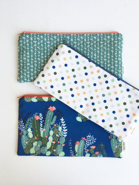 Flowering Cactus Pencil Pouch