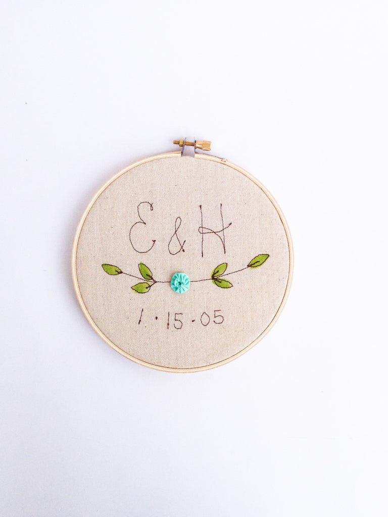 Wedding Date Personalized Hoop