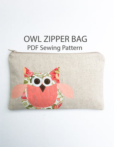 Owl Zipper Pouch Pattern