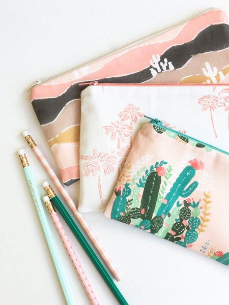 Palm Spring Pencil Pouch