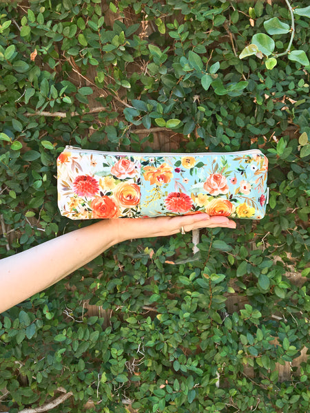 Autumn Floral Makeup Bag