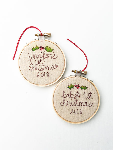 Baby's First Christmas Tree Ornaments
