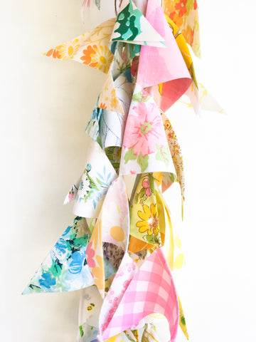 Colorful Fabric Flag Bunting