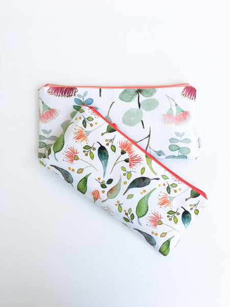 Eucalyptus Zipper Pouches