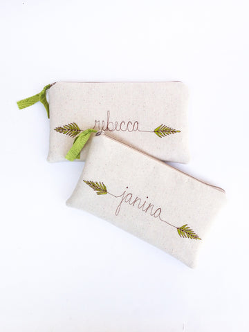 Personalized Fern Clutch