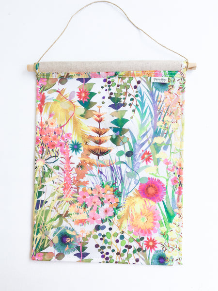 Floral Banner Wall Hanging