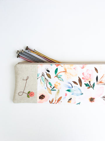 Personalized Knitting Needle Bag