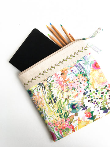 Foldover Clutch - Vines and Florals