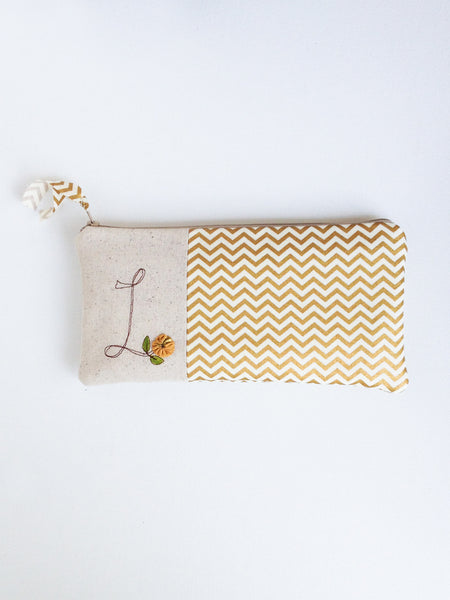 Gold Chevron Bridal Clutch