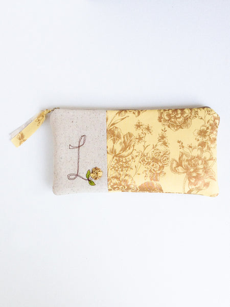 Gold Floral Bridal Clutch