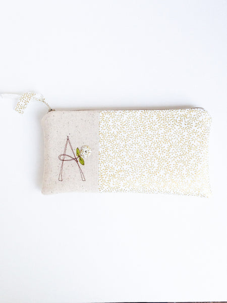 Gold and White Bridal Clutch