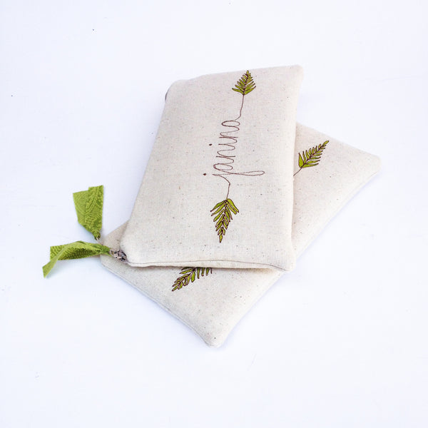 Green Fern Wedding Clutches