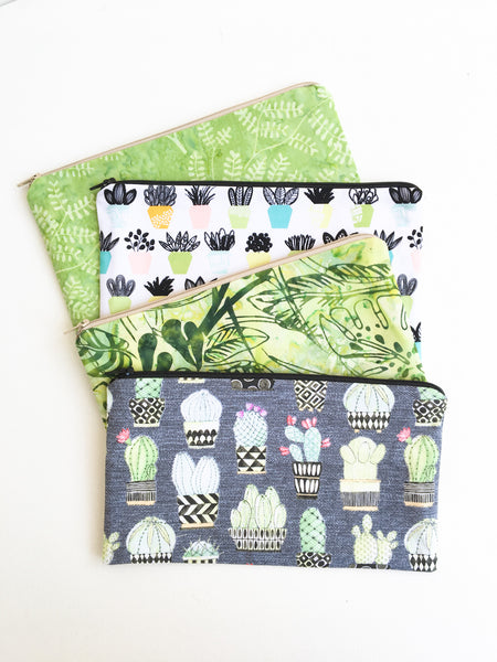 Foliage Greenery Zipper Pouches