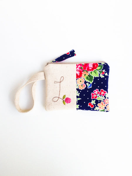 Little Girl Monogram Wristlet