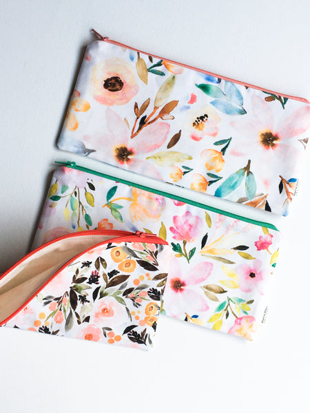 Floral Zipper Bag