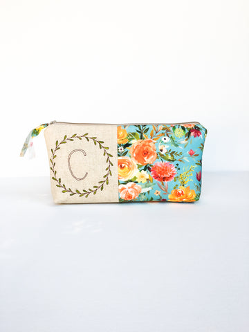 Makeup Bag with Monogram