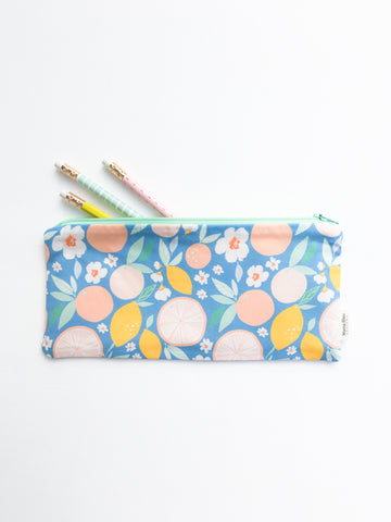 Lemon Zipper Pouch