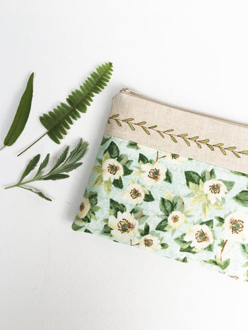 Women's Zipper Pouches - Vines and Florals