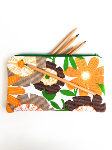 Large Blooms Zipper Pouch