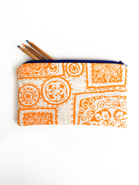 Orange Zipper Pouch