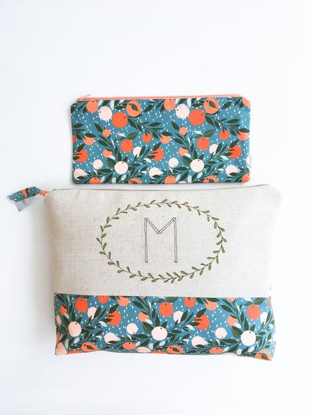 Large Monogram Cosmetic Bag